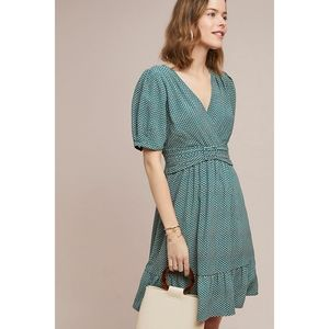 Anthropologie Maeve Keily printed belted dress 6